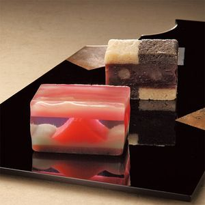Yokan, Japanese sweets. Mt. Fuji in Jelly
