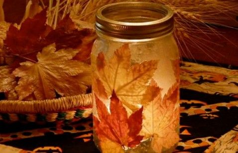Don't let those leaves go to waste — craft with found fall foliage and make a glitter acorn, a twig vase and more.