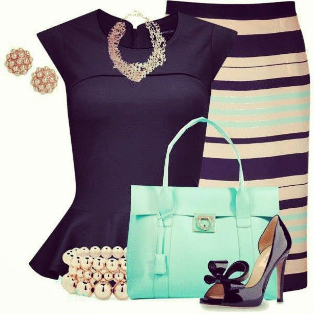 Haute Look love the peplum top and skirt