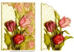 Tulpen geschulpte rand Envelop Card