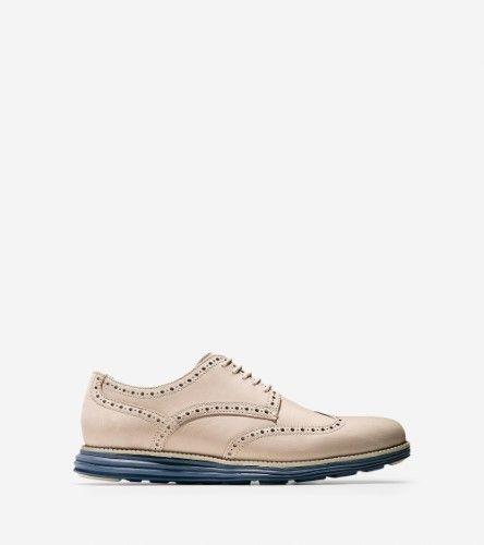 Cole Haan Mens Original Grand Wingtip Oxford Shoe, Barely Nubuck, US 10