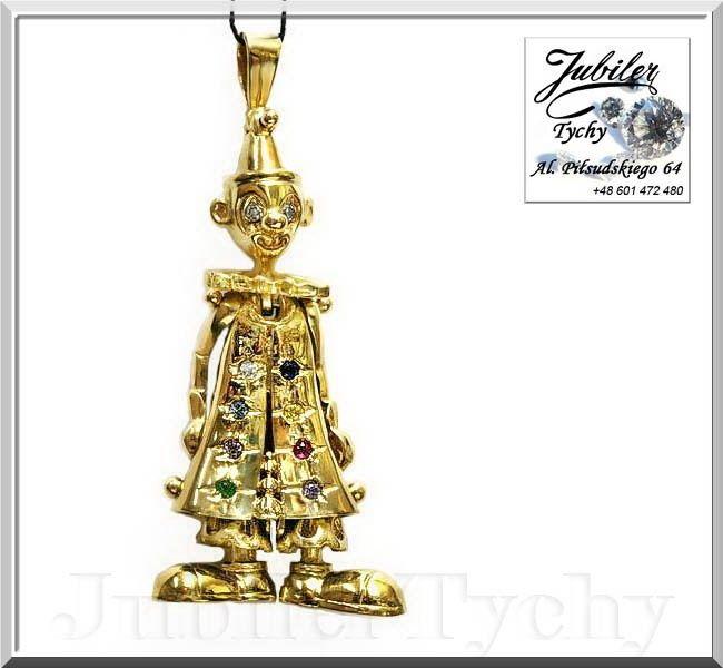 Złoty pajac 3D błazen wisiorek dwustronny - wszystkie elementy ruchome, w pajacu oprawiono cyrkonie, szafir (s) rubin (s) szmaragd (s) ametyst (s) topaz (s) 💎🎁🛒✔️🤖 #Złoty #wisiorek #pajac #clown #dwustronny #ruchomy #błazen #złote #wisiorki #pajacyk #pajace #dwustronne #złota #biżuteria #jubilertychy #Gold #clowns #3D #Jubiler #Tychy #Jeweller #pajacu #oprawa #pajaca #cyrkonie #szafir #rubin #szmaragd #ametyst #Promocje : ➡ jubilertychy.pl/promocje 💎