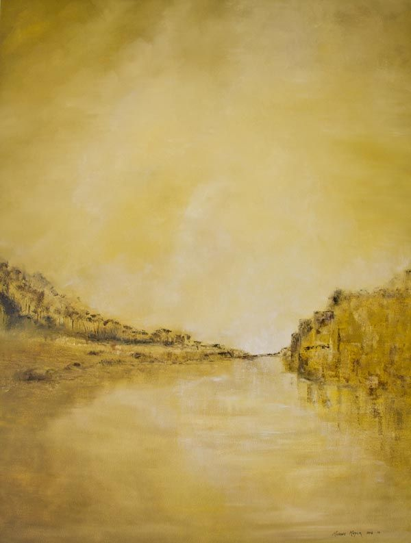 """""""River Bank Slumber"""" by Melanie Meyer from her Emergence Art Gallery in Cape Town"""