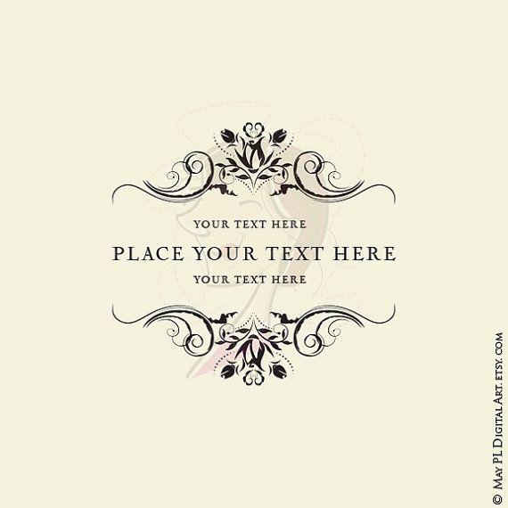 Digital Stamp Design Flourish Rose Border Corner Clip Art: 25+ Best Ideas About Flourish Border On Pinterest