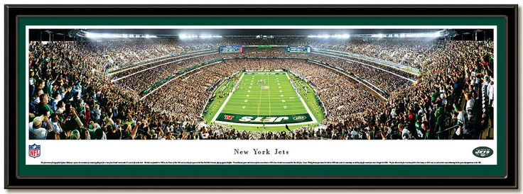 NY Jets New Meadowlands Stadium Poster Home of the New York Jets NFL football team, photo from the end zone #JetsFans