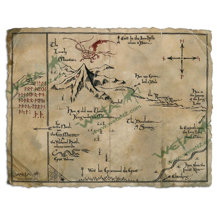 Hobbit Map Weta WB 41 best maps