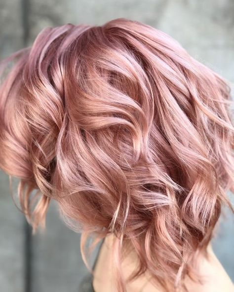 Picture of a pink champagne rose gold hair