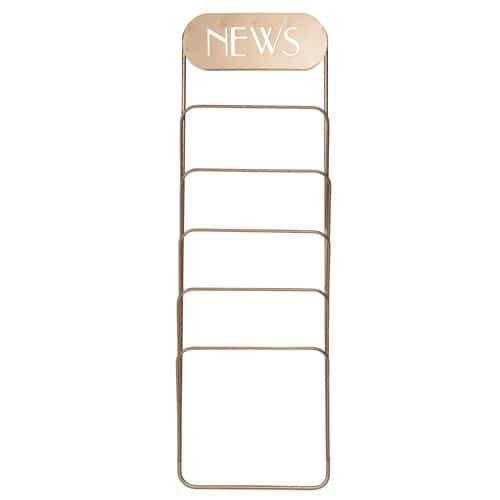 NEWS PORTO metal wall magazine holder 20 x 60 cm