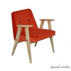 Fotel 366 Chierowski, pomarańczowy #chierowski #366 #design #vintage #meble #furniture #armchair #fotel