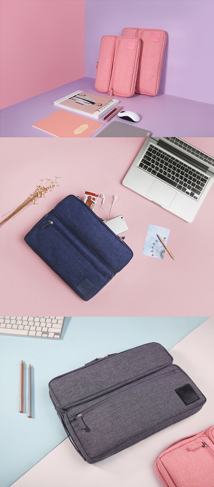 Struggling to keep everything organized & together? Need a laptop case that does both? Our new All-in-One Laptop Organizer does both & beyond! You can carry your laptop in the triple-padded main compartment & stash your phone, mouse, & more in the 2 large front pockets. Small items like your earbuds & USB drive can go in the inner mesh pockets so you'll know exactly where to find them. Use the main or side handle to easily carry this cute organizer to work, school, or travel in one simple…