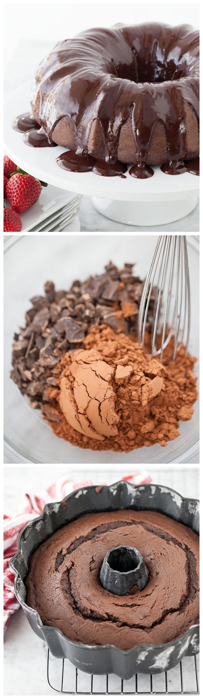 Devil's Food Bundt Cake with Espresso Ganache Glaze cures every chocolate craving on foodiecrush.com #recipe #dessert #cake