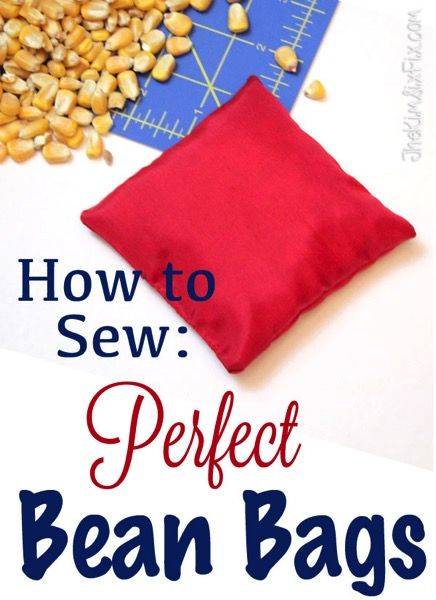 How To Sew The Perfect Bean Bag For Only Pennies Sewing Pinterest Crafts And Diy