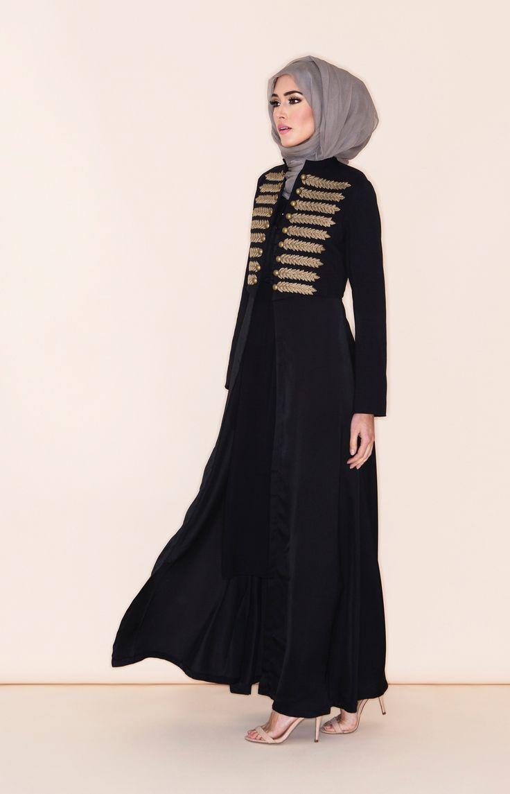 Epaulet Open Jacket Abaya | Aab
