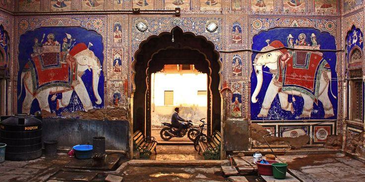 Rajasthan, Shekhawati, India, billionaires, havelis, mansions