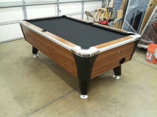 Black 6 Foot Pool Table