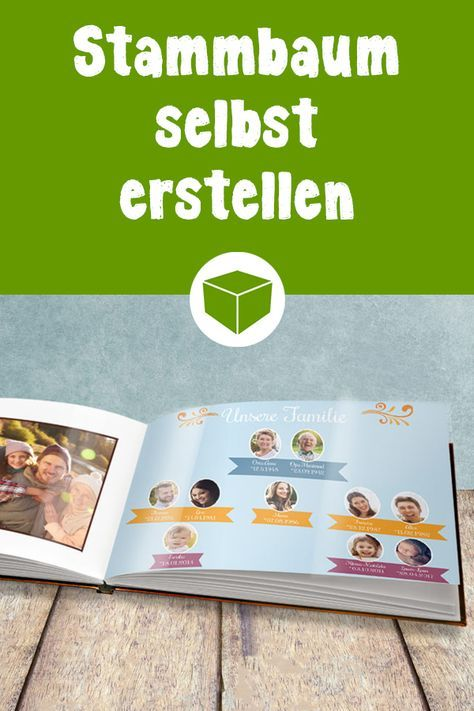 So einfach kannst Du einen Stammbaum in Dein Fotobuch integrieren. Wie es geht erfährst Du hier. #fotobuch #stammbaum #stammbaum erstellen