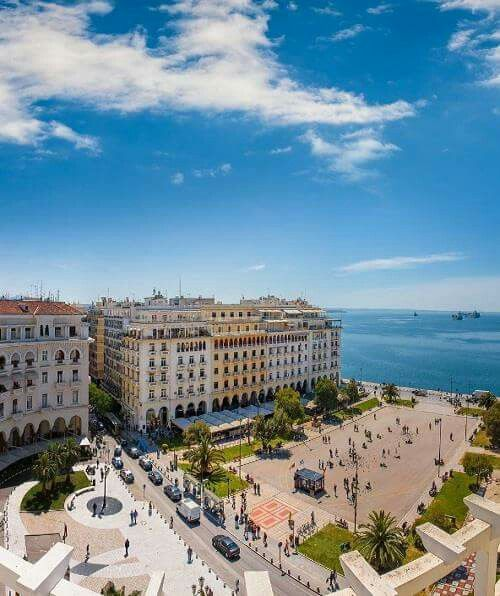 Aristotelous Square, The main city square of Thessaloniki, Greece