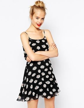 ASOS Cami Skater Dress In Daisy Print