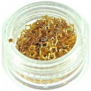 Nailart glitter - stjerner - guld