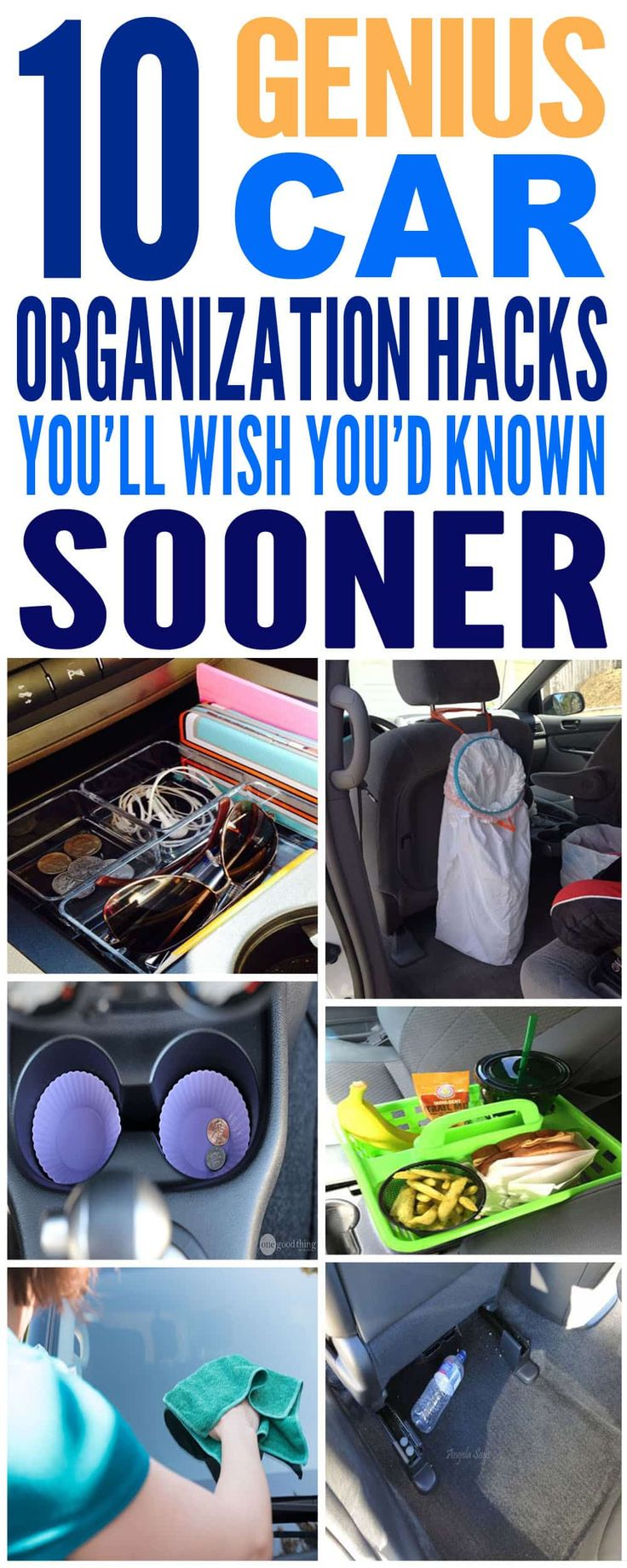 These are just the BEST car organization hacks I've ever seen! Glad to have found these amazing car organization diy ideas. Pinning for sure!!