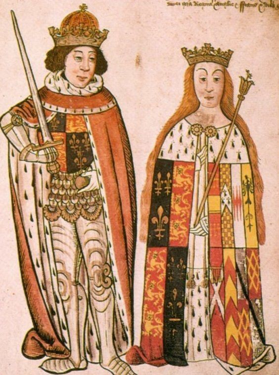 In 1185, Berengaria was given the fief of Monreal by her father. Eleanor of Aquitaine (King Richard's mother) encouraged the  engagement of Berengaria to her son King Richard.