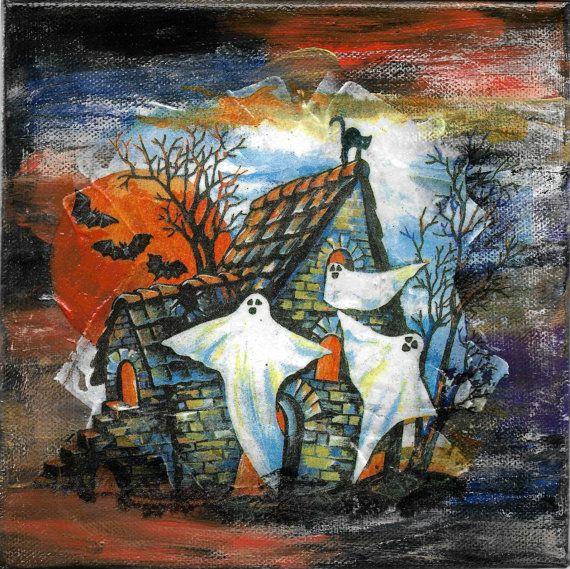 Halloween Wandbild Dekoration Leiwnand