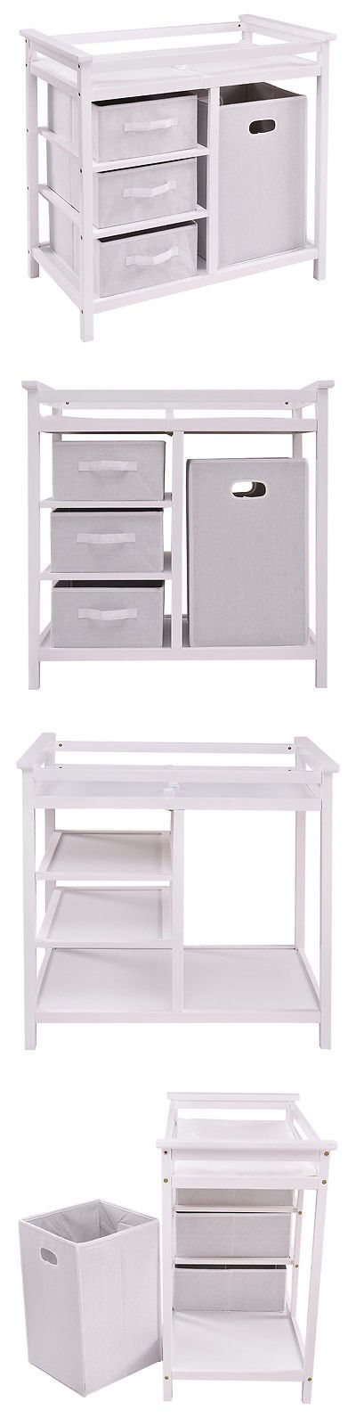 Changing Tables 20424: White Infant Baby Changing Table 3 Basket Hamper Diaper Daycare Storage Nursery -> BUY IT NOW ONLY: $95.99 on eBay!