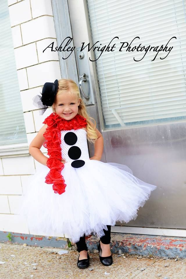 3 piece snowman costume, winter dress up, photo prop, halloween costume, tulle costume by BBMCreations on Etsy