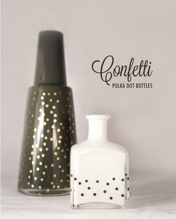 Perfect polka dots using a hole punch and painters tape.