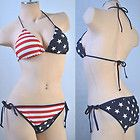 USA flag swimming suit. :)