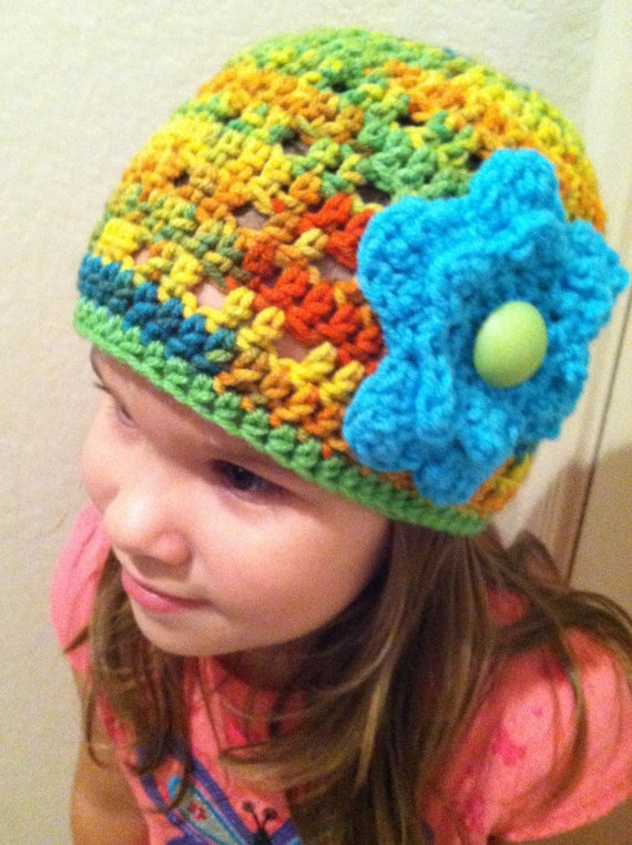 Child Size Flower Beanie RTS by CKCsCrafts on Etsy, $15.00Flower Beanie, Ckc S Crafts, Child Size, Wool Cap, Size Flower, Beanie Rts