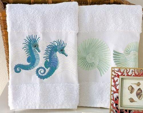 Love these!!!Cotton Towels, Beach House, Decor Finding, Beach Decor, Bath Make Ov, Coastal Decor, Bath Makeovers, Bathroom Ideas, Cottagecabin Shabby