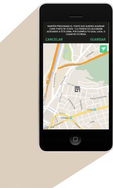 La aplicación permite crear un chat directo entre vendedor y cliente.