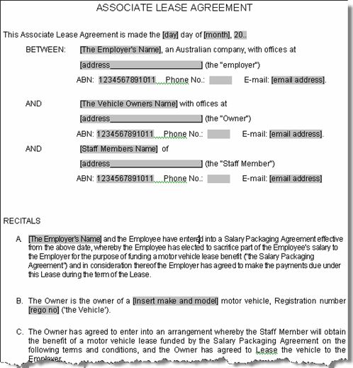 Printable Sample Lease Agreement Sample Form