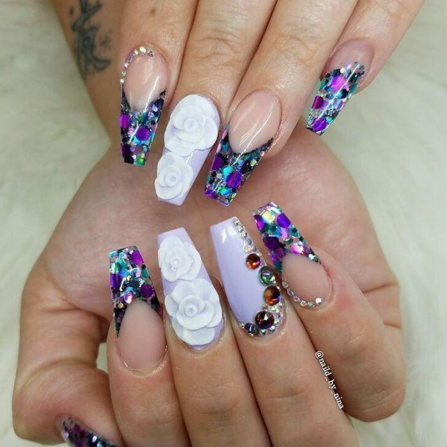 Still in love❤ #itsnina #allpowder #notpolish #nail #nails #naglar #glitter #3d #coffinnails #nails2inspire #nailaddict #nailartist #instanails #nailswag #nailpromagazine #nailsmagazine #nailitdaily #vegas_nay #hudabeauty #modernsalon #lovemyjob