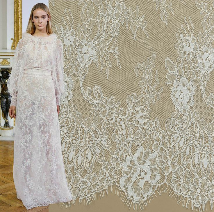 Shop your favourite lace on malagoli.ro!  This delicate and fine lace is available now here: https://www.malagoli.ro/en/product/md-168 #MalagoliFabrics #Fabrics #Lace #HauteCouture #Fashion #Dress #Gown