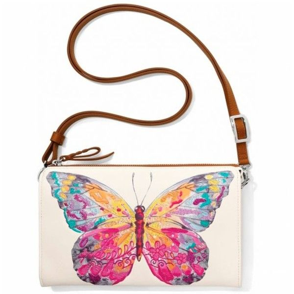 Brighton White Multi Suncatcher Embroidered Pouch (€175) ❤ liked on Polyvore featuring bags, handbags, clutches, white multi, brighton purses, embroidered clutches, white clutches, embroidery purse and embellished purse