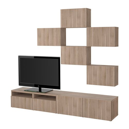 Meuble Tv Ikea Ps Gris : BestÅ Combinaison Meuble Tv, Blanc, Selsviken Brillantblanctv