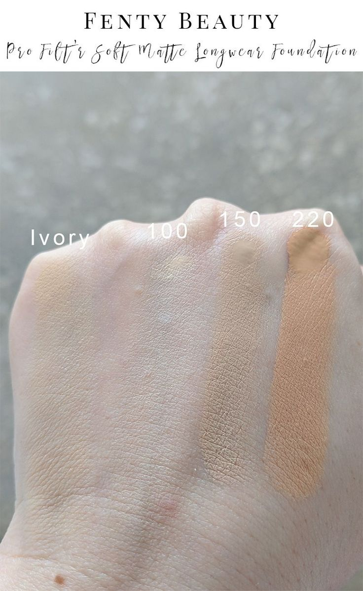 Fenty Beauty Pro Filt'r Soft Matte Longwear Foundation in 100 swatches