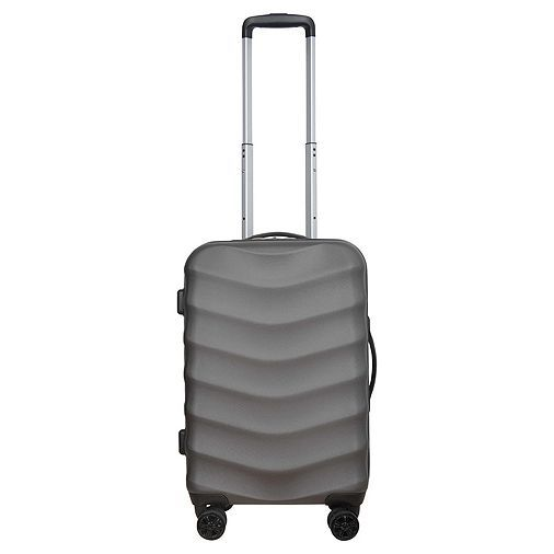 c605e1d1bd Tesco direct  Tesco Champagne Small 8 Wheel Hard Shell Charcoal Suitcase