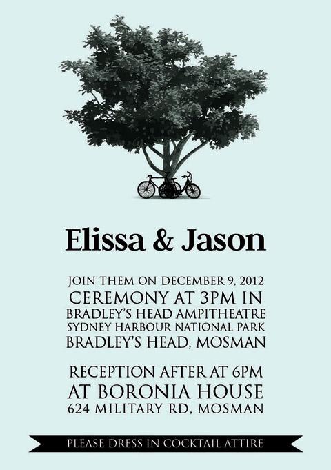 "Blue Vintage Bike Wedding ""Print yourself"" invitation $45"