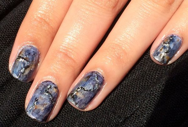 Day 151: Granite Nail Art - - NAILS Magazine