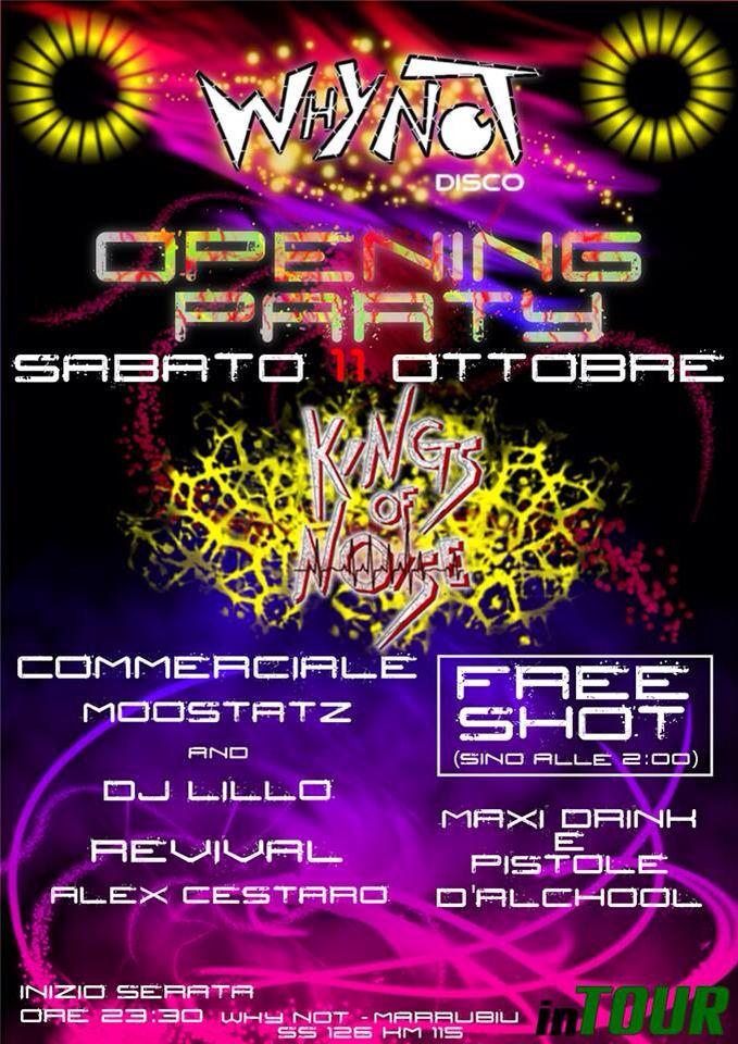 Apertura stagione 2014/2015 della discoteca storica WHYNOT Moostatz 11/10/2014