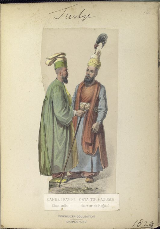 Chamberlain and Furrier to the Sultan. The Vinkhuijzen collection of military uniforms / Turkey, 1818. See McLean's Turkish Army of 1810-1817.