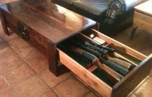 Coffee Table Secret Gun Safe   Hidden Gun Safe   List of 9 Badass Secret Gun Storage Lockers