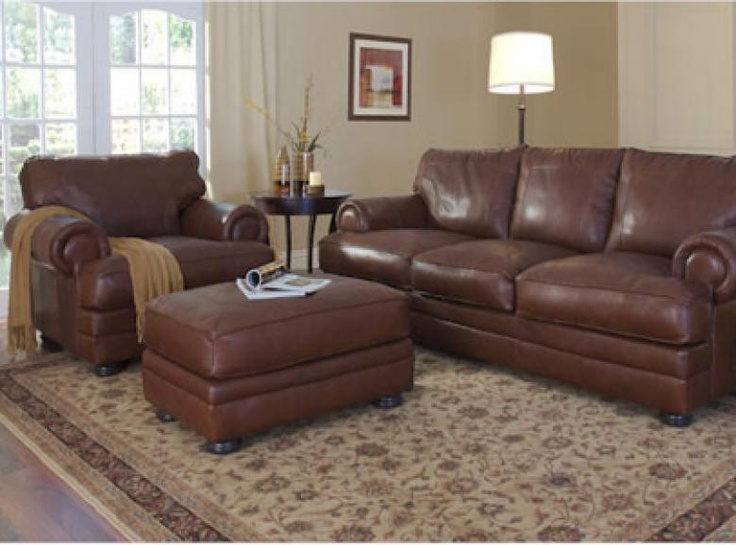 The Oakland Leather Sofa Set