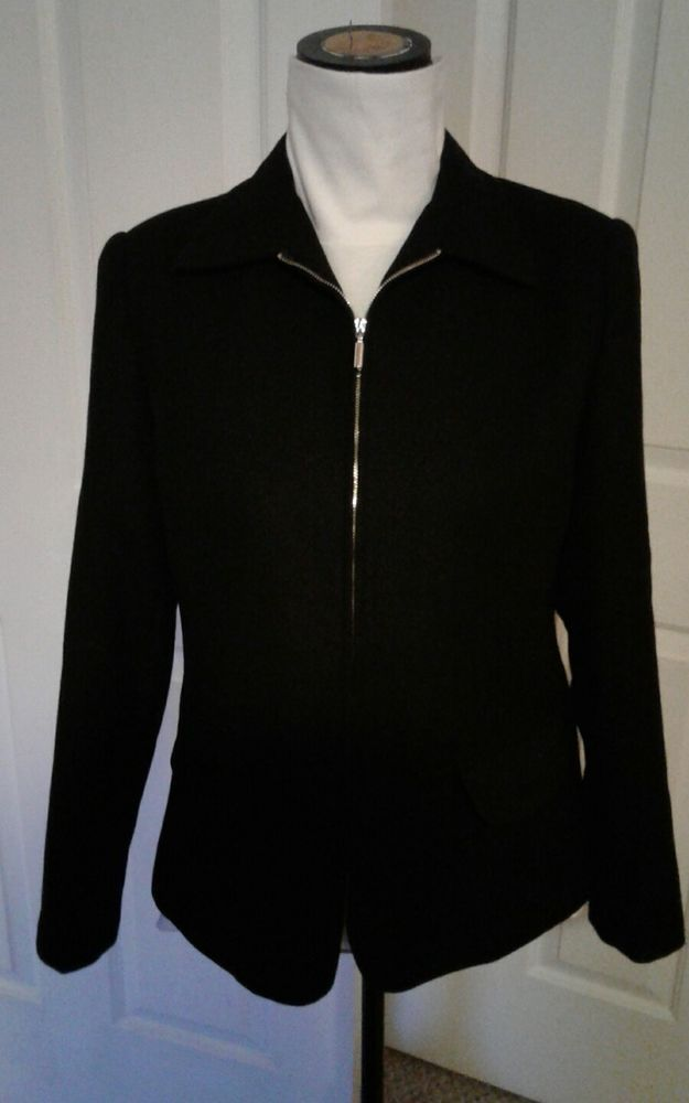 Sag Harbor Jacket, Coat,  Black Sz 10 Ladies,  Women's   | eBay