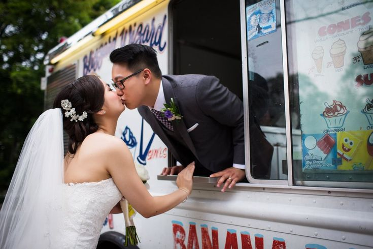 What an awesome idea for a wedding - Ice cream truck!