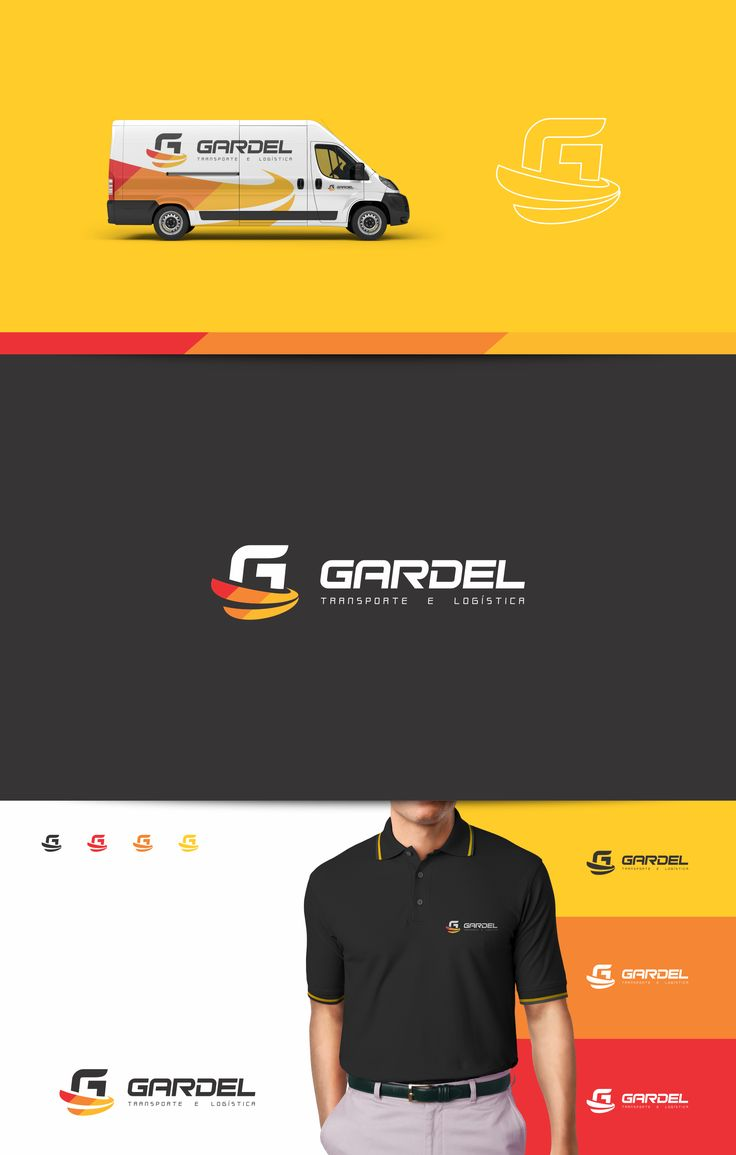 Identidade visual criada para Gardel Transporte e Logística.  Logo e papelaria.  Rio de Janeiro – RJ