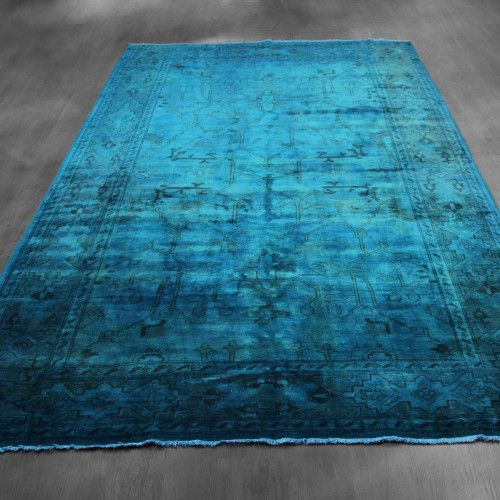 6x9 Vintage Over-dyed Ziegler Mahal Teal Rug Woh-2655